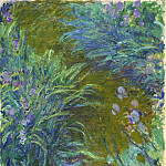 Path through the Irises 02, Claude Oscar Monet