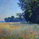 Oat and Poppy Field, Giverny, Клод Оскар Моне