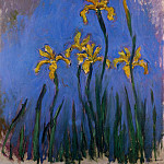 Yellow Irises, Claude Oscar Monet