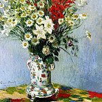Claude Oscar Monet - Bouquet of Gadiolas, Lilies and Dasies