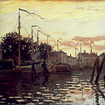 The Port at Zaandam, Claude Oscar Monet