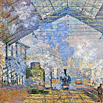 Saint-Lazare Station, Exterior View, 1877 1, Claude Oscar Monet