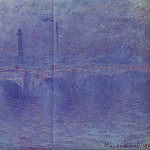 Claude Oscar Monet - Waterloo Bridge, Fog Effect