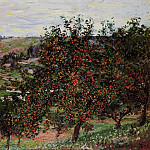 Apple Trees near Vetheuil, Claude Oscar Monet