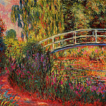 Claude Oscar Monet - The Japanese Bridge (The Water-Lily Pond, Water Irises)