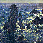 Claude Oscar Monet - The 'Pyramids', Cliffs at Belle-Ile