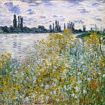 Isle of Flowers on Siene near Vetheuil, Claude Oscar Monet