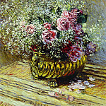 Flowers in a Pot, Claude Oscar Monet