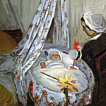 Jean Monet in the Craddle, Claude Oscar Monet