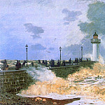 The Jetty at Le Havre, Claude Oscar Monet
