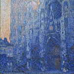 Rouen Cathedral, The Portal and the Tour d'Albane at Dawn, Claude Oscar Monet