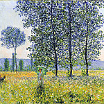 Sunlight Effect under the Poplars, Claude Oscar Monet