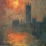 Houses of Parliament, Sunset, Клод Оскар Моне