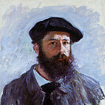 Self Portrait with a Beret, Claude Oscar Monet