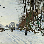Claude Oscar Monet - The Road to the Farm of Saint-Simeon in Winter