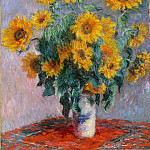 Bouquet of Sunflowers, 1880y, Claude Oscar Monet