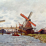 Windmills near Zaandam, Claude Oscar Monet