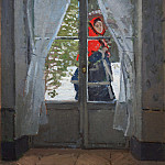 The Red Kerchief, Portrait of Madame Monet, Claude Oscar Monet