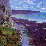 Cliff near Dieppe, Claude Oscar Monet