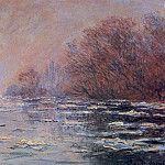 River Thawing near Vetheuil, Claude Oscar Monet
