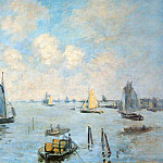 The Sea at Amsterdam, Claude Oscar Monet