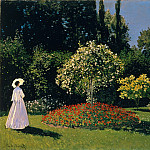Клод Оскар Моне - Jeanne Marguerite Lecadre in the Garden