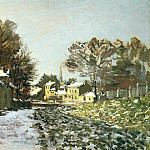 Claude Oscar Monet - Snow at Argenteuil