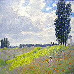 Claude Oscar Monet - Walk in the Meadows at Argenteuil