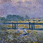 Charing Cross Bridge, Reflections on the Thames, Claude Oscar Monet