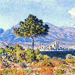 Клод Оскар Моне - View of Antibes from the Plateau Notre-Dame
