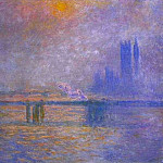 Charing Cross Bridge, The Thames 02, Claude Oscar Monet