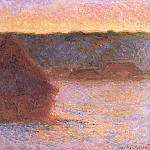 Grainstack at Sunset, Winter, 1890-91 1, Claude Oscar Monet