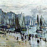 Fishing Boats Leaving the Harbor, Le Havre, Клод Оскар Моне