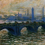 Waterloo Bridge, Misty Morning, Claude Oscar Monet