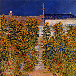 The Artist's Garden at Vetheuil, Клод Оскар Моне