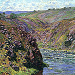 Valley of the Creuse, Sunlight Effect, Claude Oscar Monet