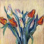 Claude Oscar Monet - Vase of Tulips