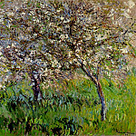 Apple Trees in Bloom at Giverny, Клод Оскар Моне