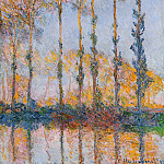 Poplars, White and Yellow Effect, Claude Oscar Monet