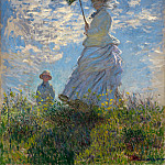 The Promenade, Woman with a Parasol, Claude Oscar Monet