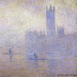 Houses of Parliament, Fog Effect, Claude Oscar Monet