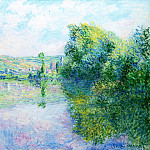 The Siene at Vetheuil, Claude Oscar Monet