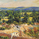 View on village of Giverny, Claude Oscar Monet
