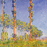 Three Trees, Autumn Effect, Claude Oscar Monet
