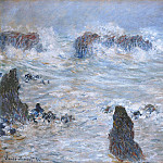 Storm in the Belle-Ile Coast, Claude Oscar Monet