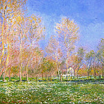 Springtime in Giverny, Claude Oscar Monet