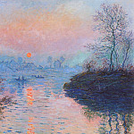 Sunset on the Seine at Lavacourt, Winter Effect, Claude Oscar Monet
