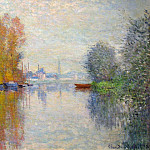 Autumn on the Seine at Argenteuil, Claude Oscar Monet
