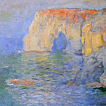 Claude Oscar Monet - The Manneport, Reflections of Water