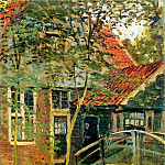 Zaandam, Little Bridge, Claude Oscar Monet
